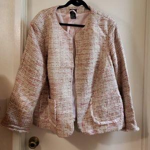George Women size 26/28 pink Chanel style blazer